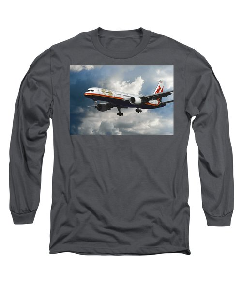 Classic Twa Boeing 757-231 Long Sleeve T-Shirt