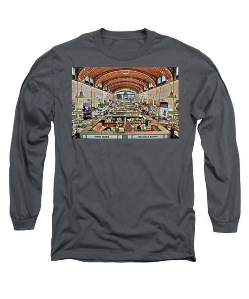 Classic Westside Market Long Sleeve T-Shirt by Frozen in Time Fine Art Photography