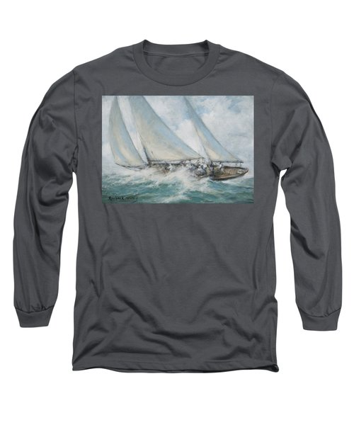 Classic Yacht  Twixt Wind And Water Long Sleeve T-Shirt