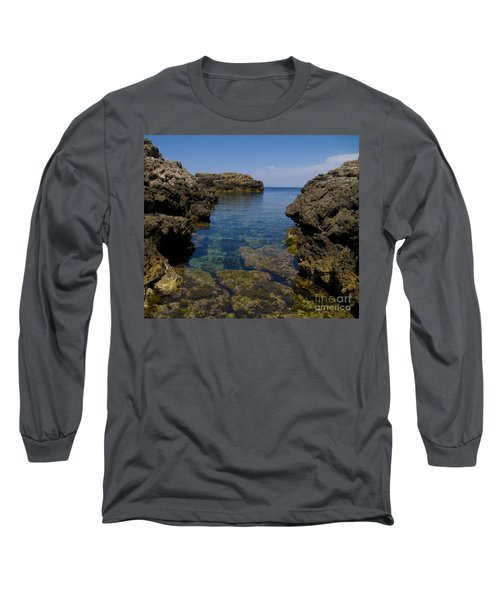 Clear Water Of Mallorca Long Sleeve T-Shirt by Anastasy Yarmolovich