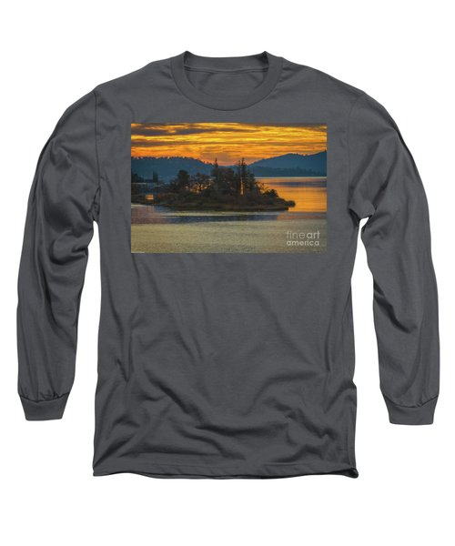 Clearlake Gold Long Sleeve T-Shirt by Mitch Shindelbower
