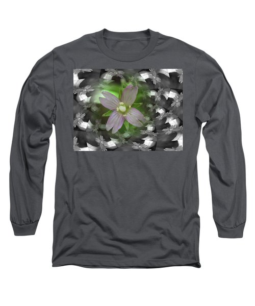 Long Sleeve T-Shirt featuring the photograph Clematis by Keith Elliott
