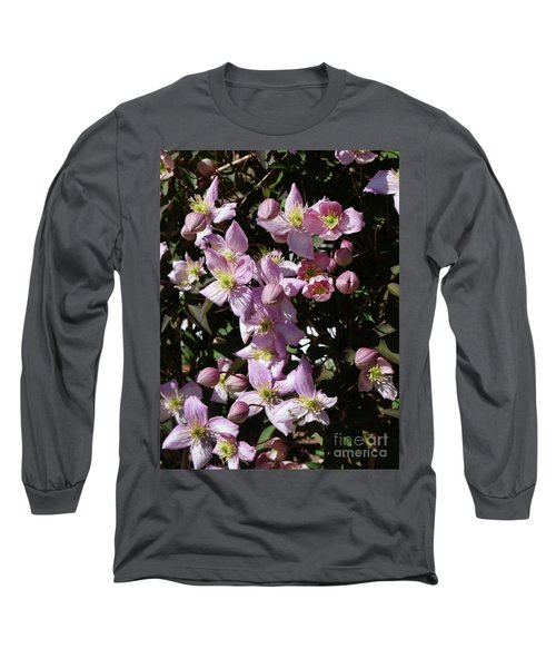 Clematis Montana  In Full Bloom Long Sleeve T-Shirt
