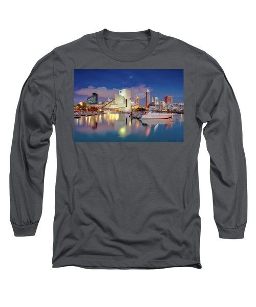 Long Sleeve T-Shirt featuring the photograph Cleveland Ohio 2  by Emmanuel Panagiotakis
