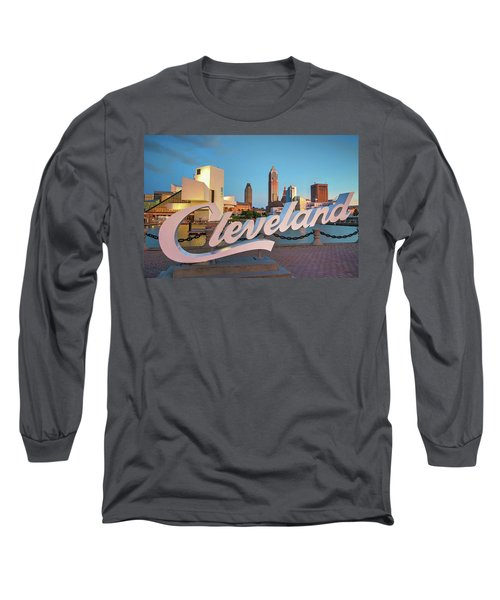 Long Sleeve T-Shirt featuring the photograph Cleveland's North Coast by Brent Durken