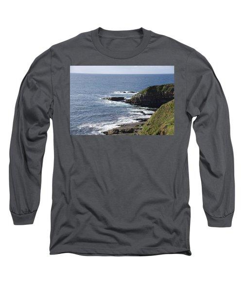 Cliffs Overlooking Donegal Bay II Long Sleeve T-Shirt by Greg Graham
