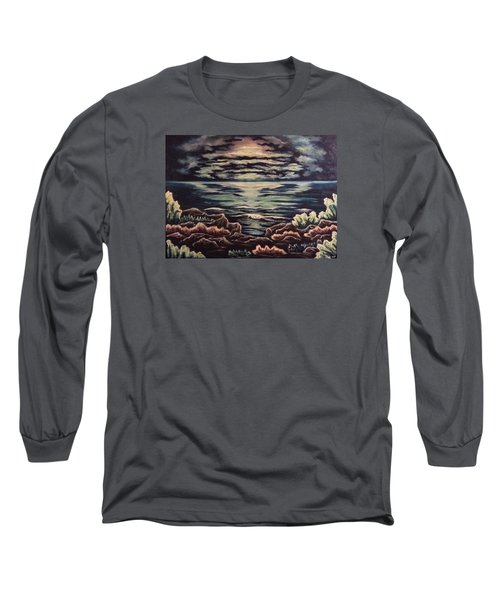 Long Sleeve T-Shirt featuring the painting Cliffside by Cheryl Pettigrew