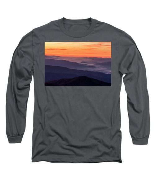 Clingmans Dome Fall Sunrise Long Sleeve T-Shirt