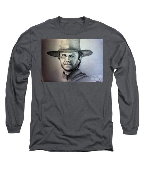 Clint Eastwood Portrait  Long Sleeve T-Shirt
