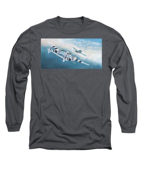 Close Encounter With A Focke-wulf Long Sleeve T-Shirt by Douglas Castleman