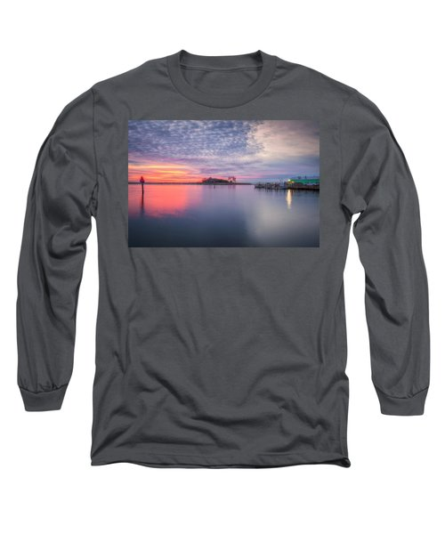 Close Of The Evening Long Sleeve T-Shirt by David Cote