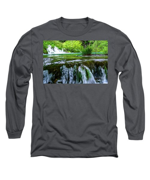 Close Up Waterfalls - Plitvice Lakes National Park, Croatia Long Sleeve T-Shirt