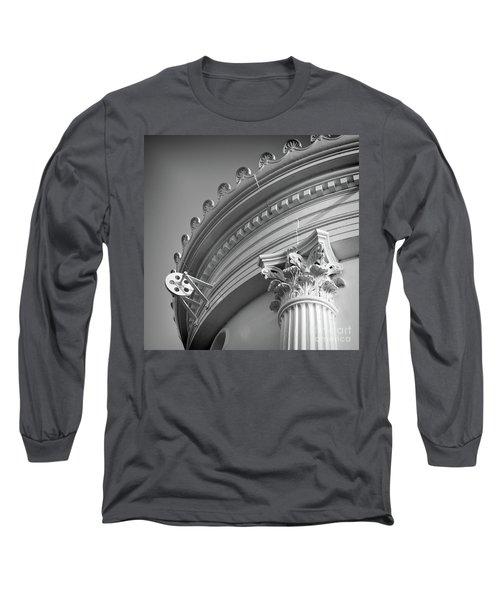 Closeup Of Lighthouse  -58750 Long Sleeve T-Shirt by John Bald