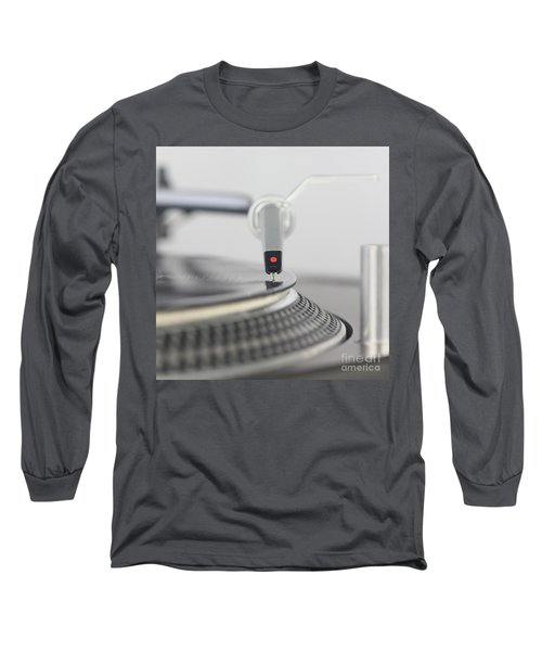 Closeup Of The Legendary Technics Sl 1200 Mk2 Turntable Long Sleeve T-Shirt