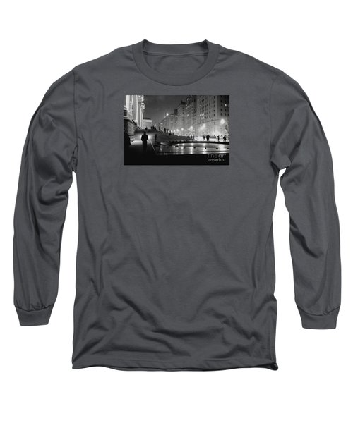 Closing At The Met Long Sleeve T-Shirt by Sandy Moulder