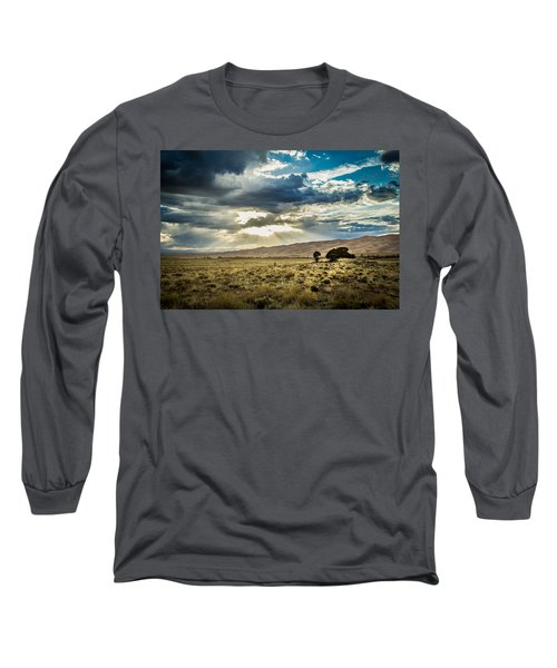 Cloud Break Over Sand Dunes Long Sleeve T-Shirt
