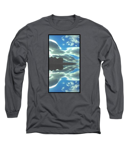 Long Sleeve T-Shirt featuring the photograph Cloud Drama Reflections by Anastasia Savage Ealy
