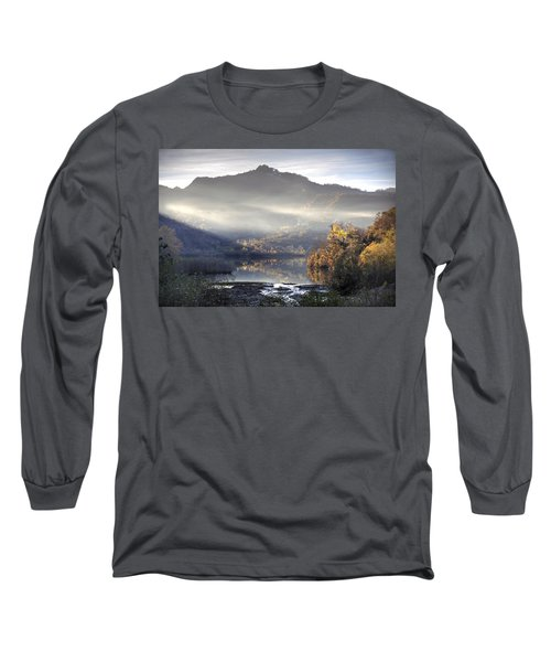 Mist In The Evening Long Sleeve T-Shirt by Gouzel -