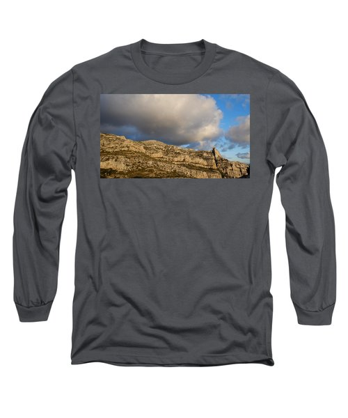 Long Sleeve T-Shirt featuring the photograph Cloud Kiss by August Timmermans