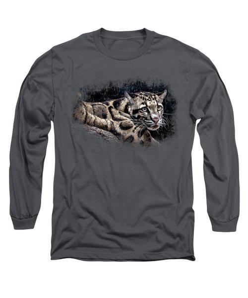 Leopard Long Sleeve T-Shirt by David Millenheft