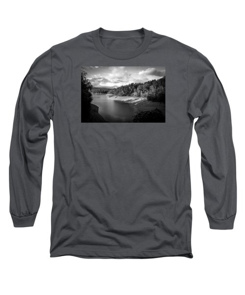 Long Sleeve T-Shirt featuring the photograph Clouds Above The Nantahala River In Nc by Kelly Hazel