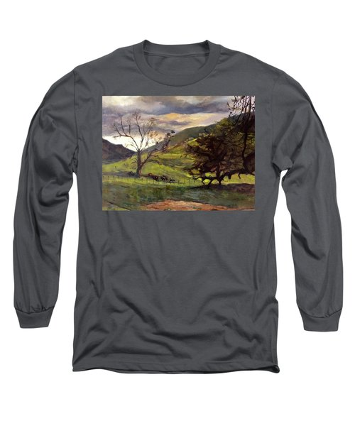 Clouds And Cattle Long Sleeve T-Shirt