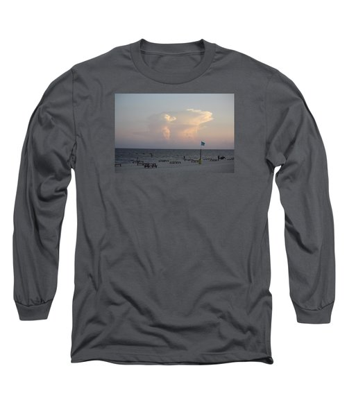 Clouds At The Beach Long Sleeve T-Shirt by Donna G Smith