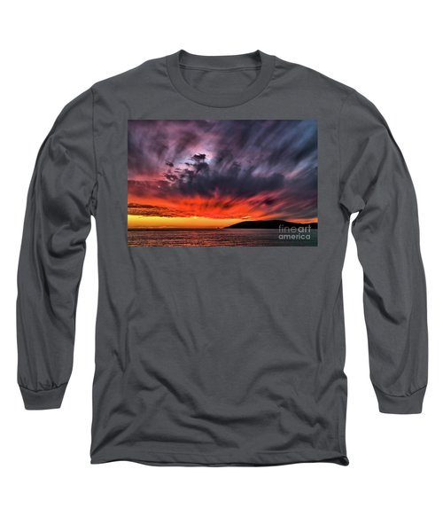 Clouds In Motion Before The Storm Long Sleeve T-Shirt by Vivian Krug Cotton