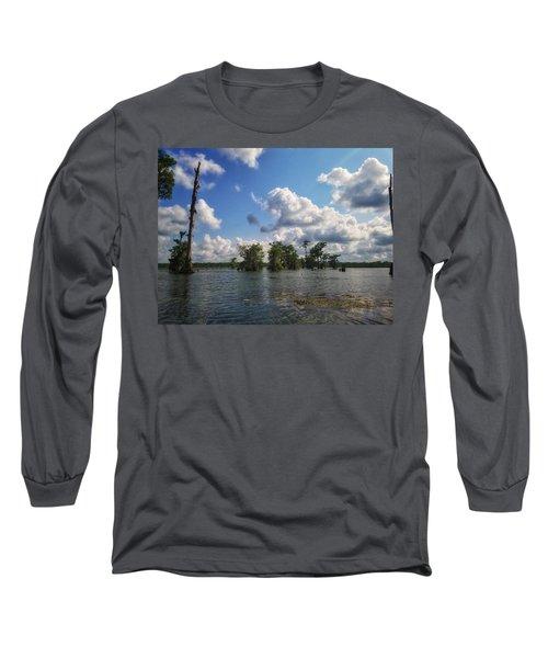 Clouds Over The Louisiana Bayou Long Sleeve T-Shirt