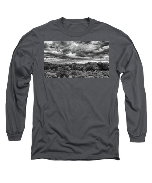 Clouds Over The Superstitions Long Sleeve T-Shirt by Monte Stevens