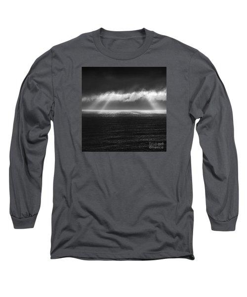 Cloudy Day At The Sae Long Sleeve T-Shirt by Gunnar Orn Arnason