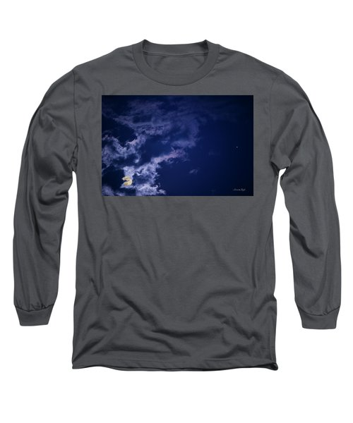 Cloudy Moon With Jupiter Long Sleeve T-Shirt