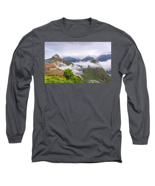 Cloudy Mountains. Long Sleeve T-Shirt