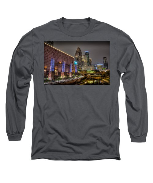 Long Sleeve T-Shirt featuring the photograph Cloudy Night In Houston by David Morefield