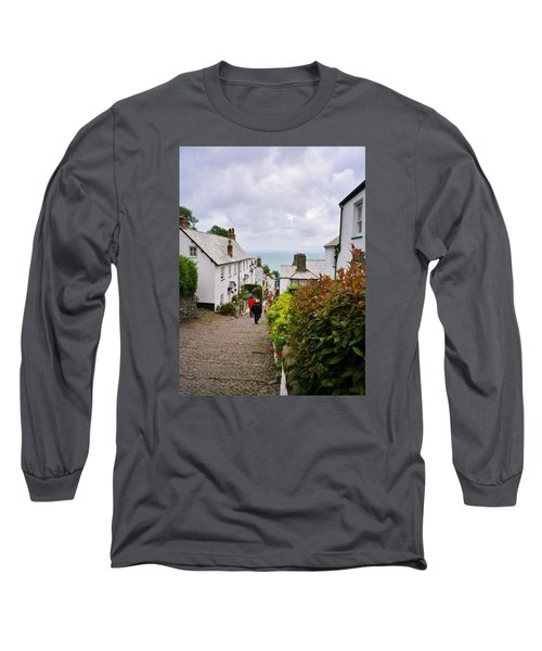 Clovelly High Street Long Sleeve T-Shirt by Richard Brookes
