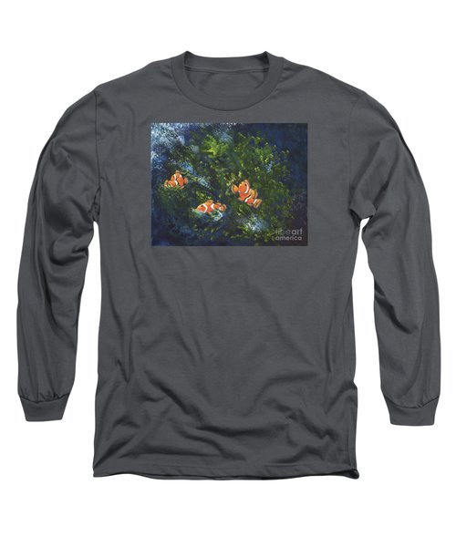 Clowning Around Long Sleeve T-Shirt by Carol Sweetwood