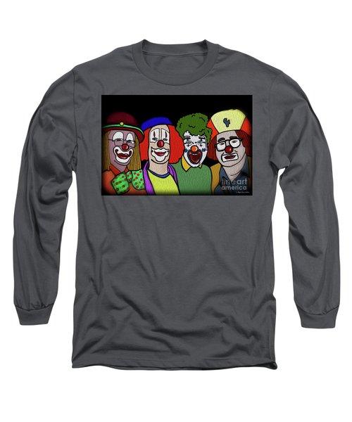 Clowns Long Sleeve T-Shirt by Megan Dirsa-DuBois