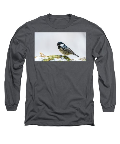 Long Sleeve T-Shirt featuring the photograph Coal Tit's Profile by Torbjorn Swenelius