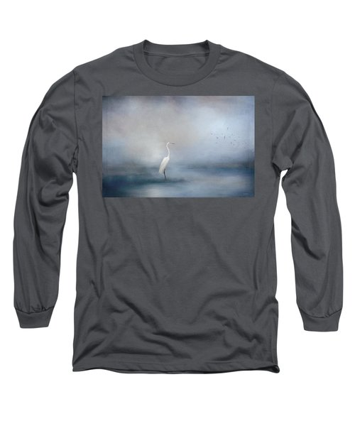 Coastal Egret Long Sleeve T-Shirt