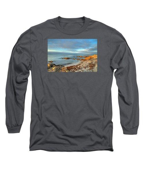 Coastal Sunset Long Sleeve T-Shirt by Derek Dean