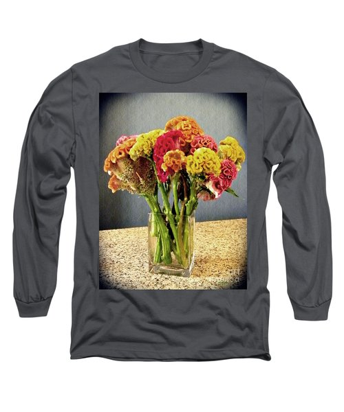 Long Sleeve T-Shirt featuring the photograph Cockscomb Bouquet by Sarah Loft