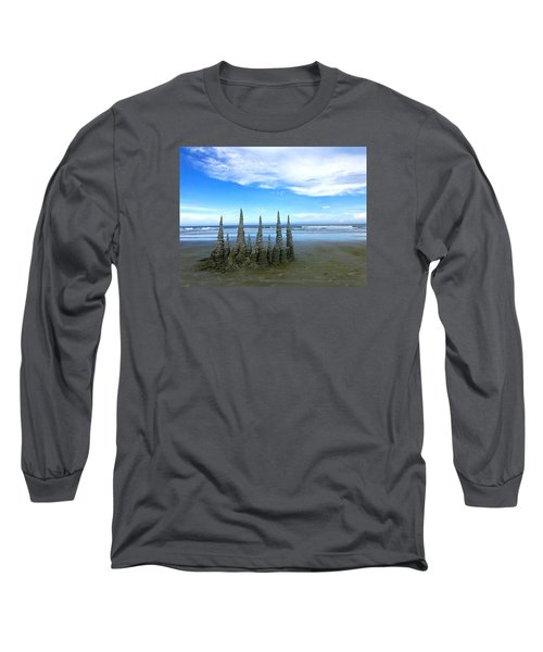 Cocoa Beach Sandcastles Long Sleeve T-Shirt
