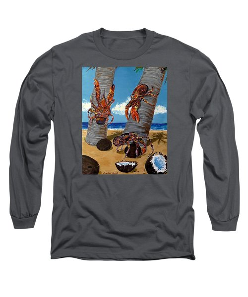 Coconut Crab Cluster Long Sleeve T-Shirt