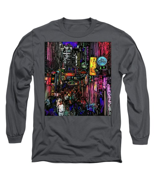Coffee Shop, Amsterdam Long Sleeve T-Shirt by DC Langer