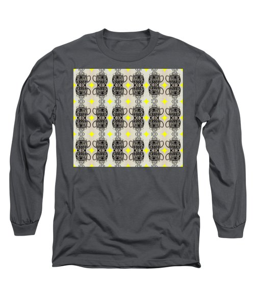 Coffee Time Patttern Long Sleeve T-Shirt