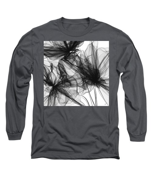 Coherence - Black And White Modern Art Long Sleeve T-Shirt