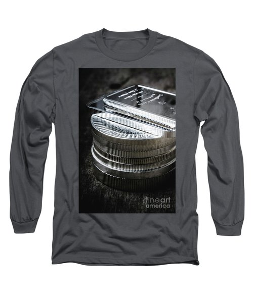 Coins Of Silver Stacking Long Sleeve T-Shirt