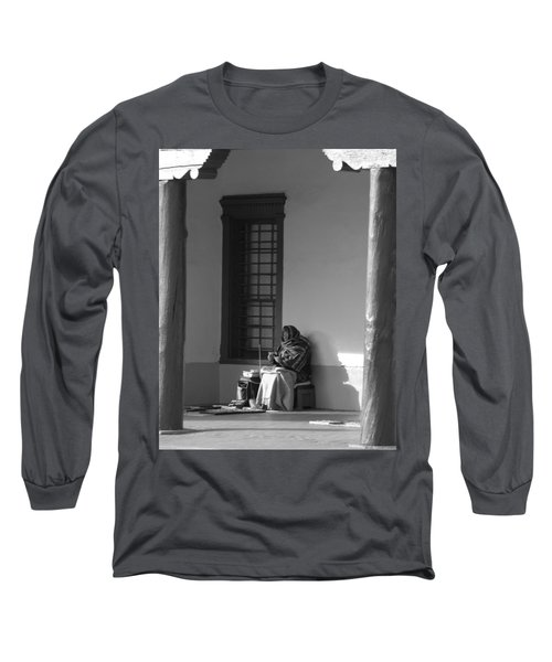 Long Sleeve T-Shirt featuring the photograph Cold Native American Woman by Rob Hans