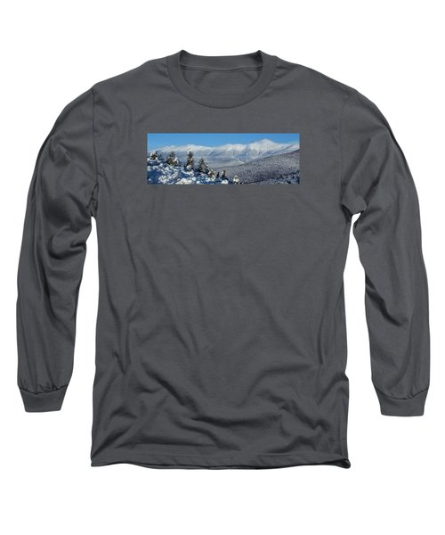 Cold Winter Day On Haystack Nubble Long Sleeve T-Shirt