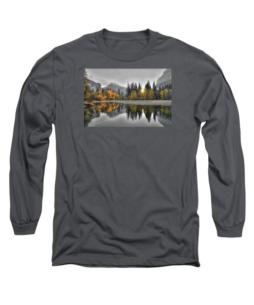 Cold Yosemite Reflections Long Sleeve T-Shirt